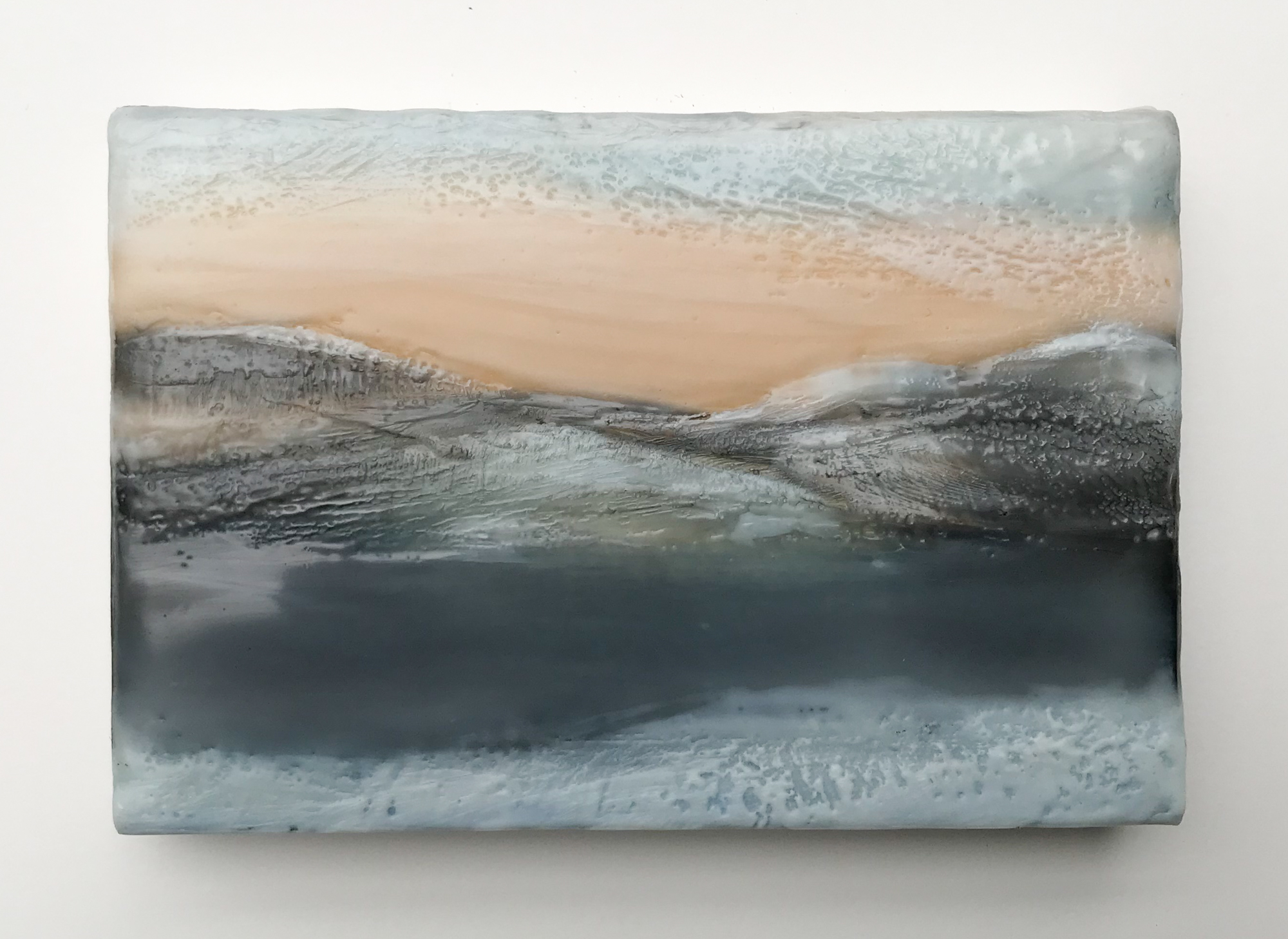 Encaustic, oil paint and graphite  Sold