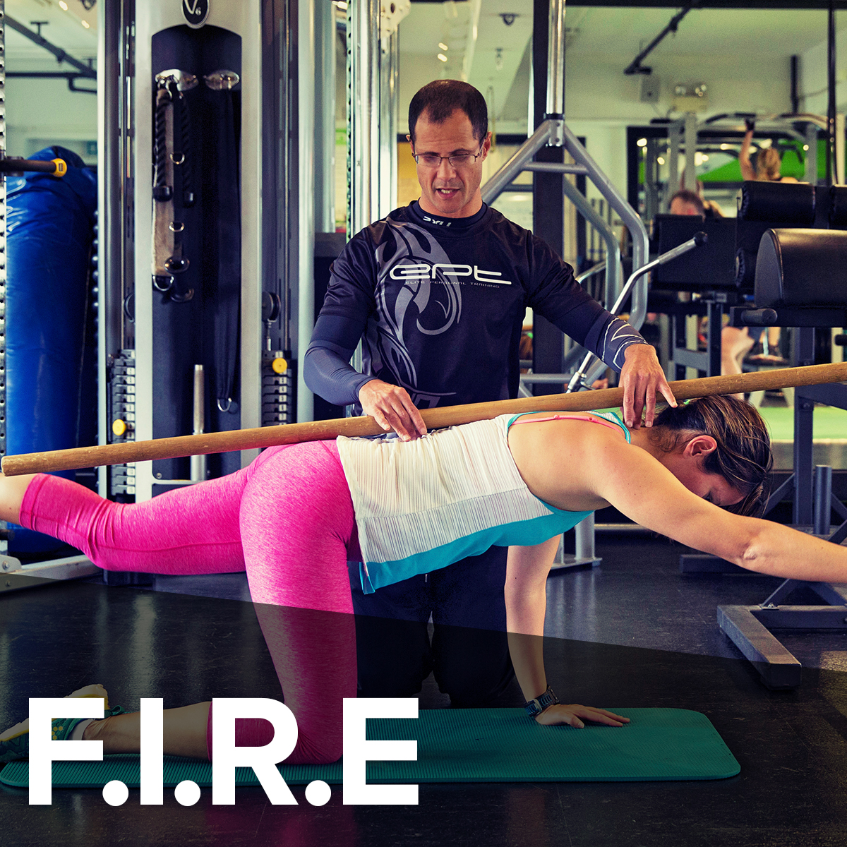 F.I.R.E  ( F ocused  I ntensive  R esistance  E xercise) programme will boost your metabolism, setting the platform to burn more fat on your rest days.