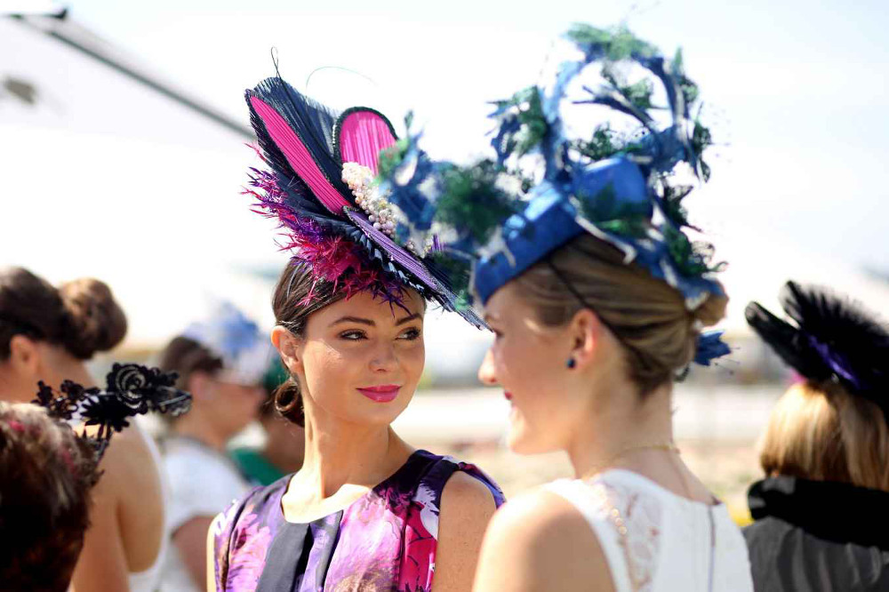 Bright hats at Melbourne cup.jpg