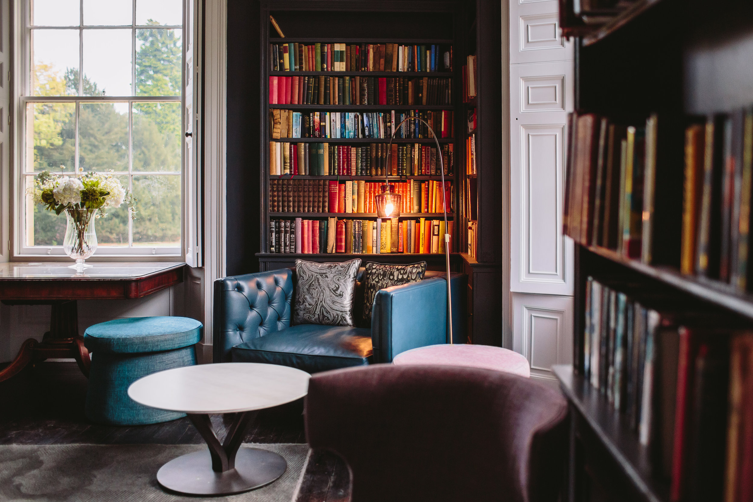 The Library Lounge - Relax by the fire in our new Library Lounge