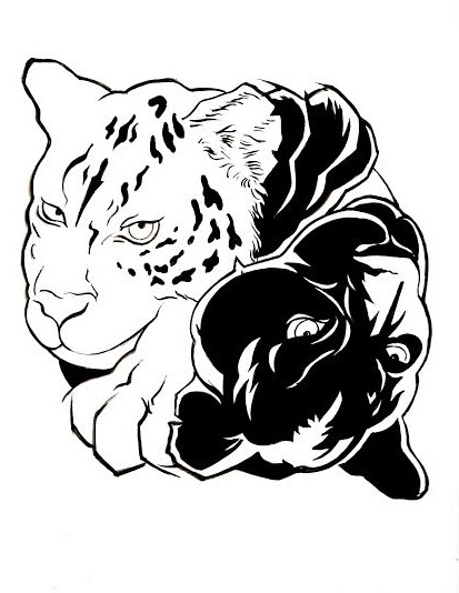 The Snow Leopard (Yang) / The Jaguar (Yin)