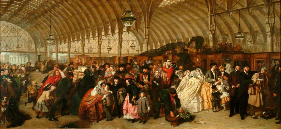 The railway station by William Powell Frith, Royal Holloway