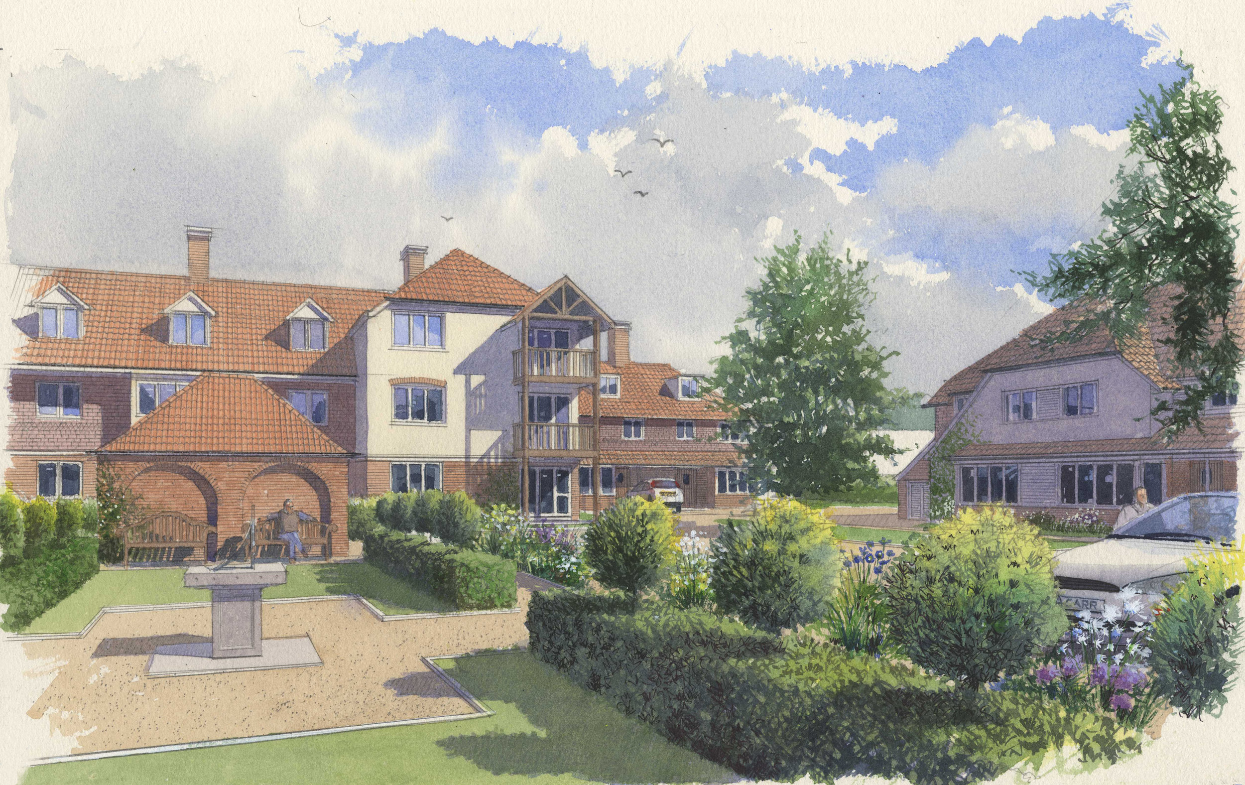 St Albans - We can now announce that St Albans District Council has granted planning consent for our scheme on Townsend Drive, St Albans. The proposals for Beechcroft Developments are for retirement housing on the site of the former Maryland Convent.