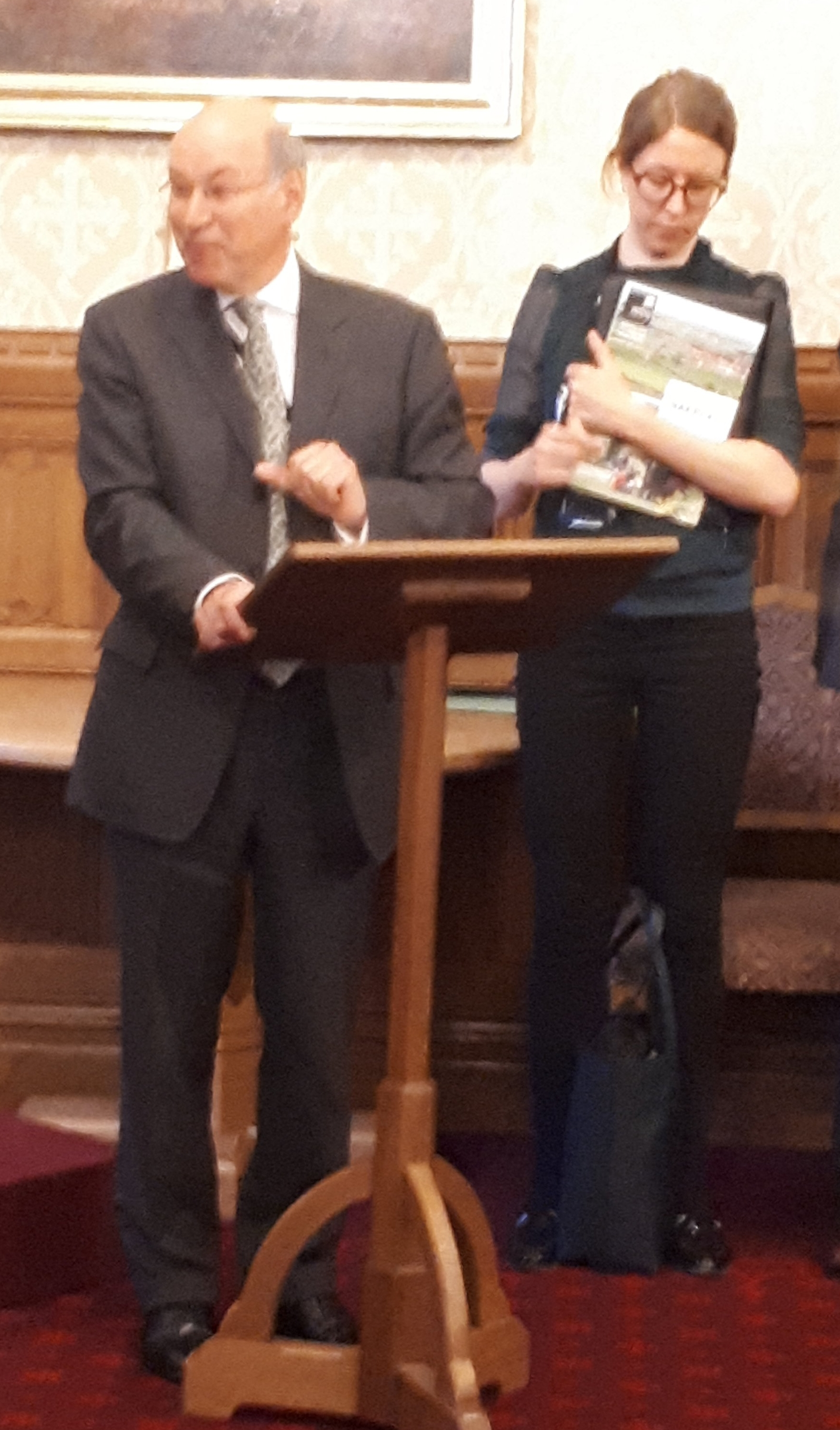 Lord Gardiner presenting HAPPI 4 at the House of Lords