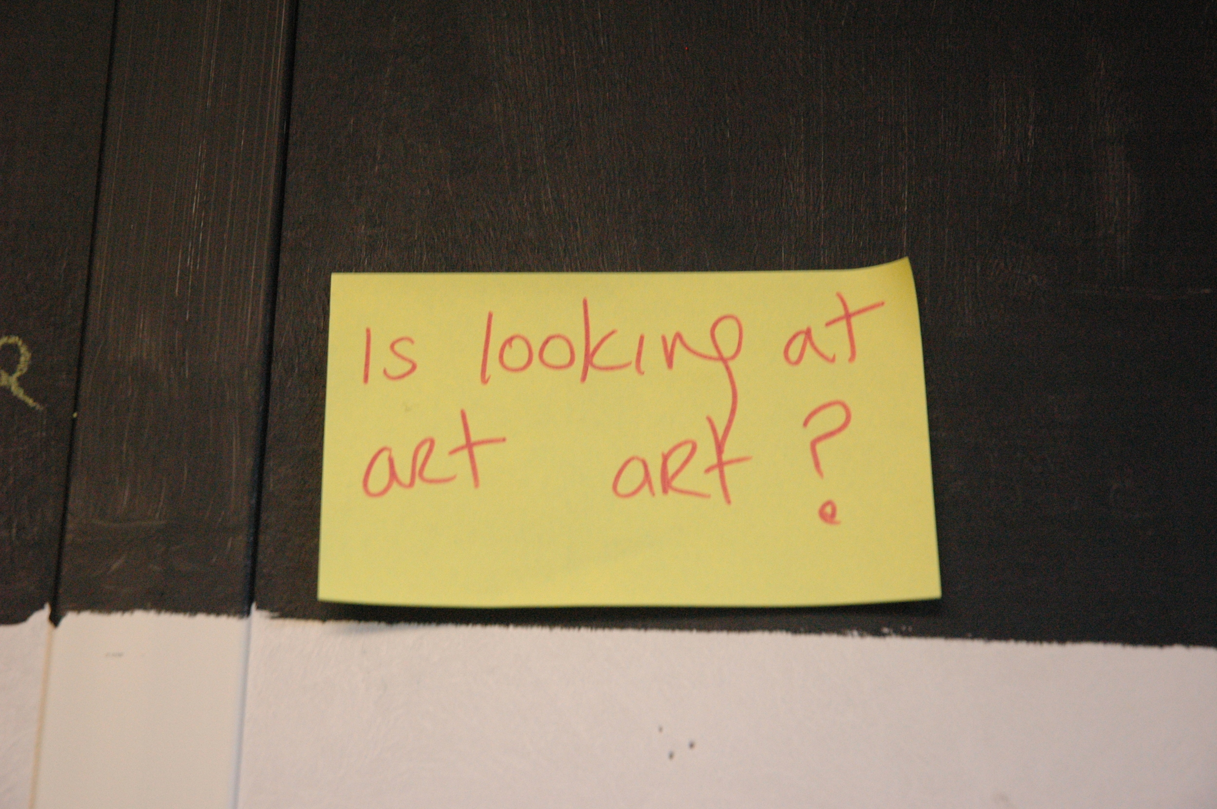 Interesting questions arose out of lively discussions around art and artworks.