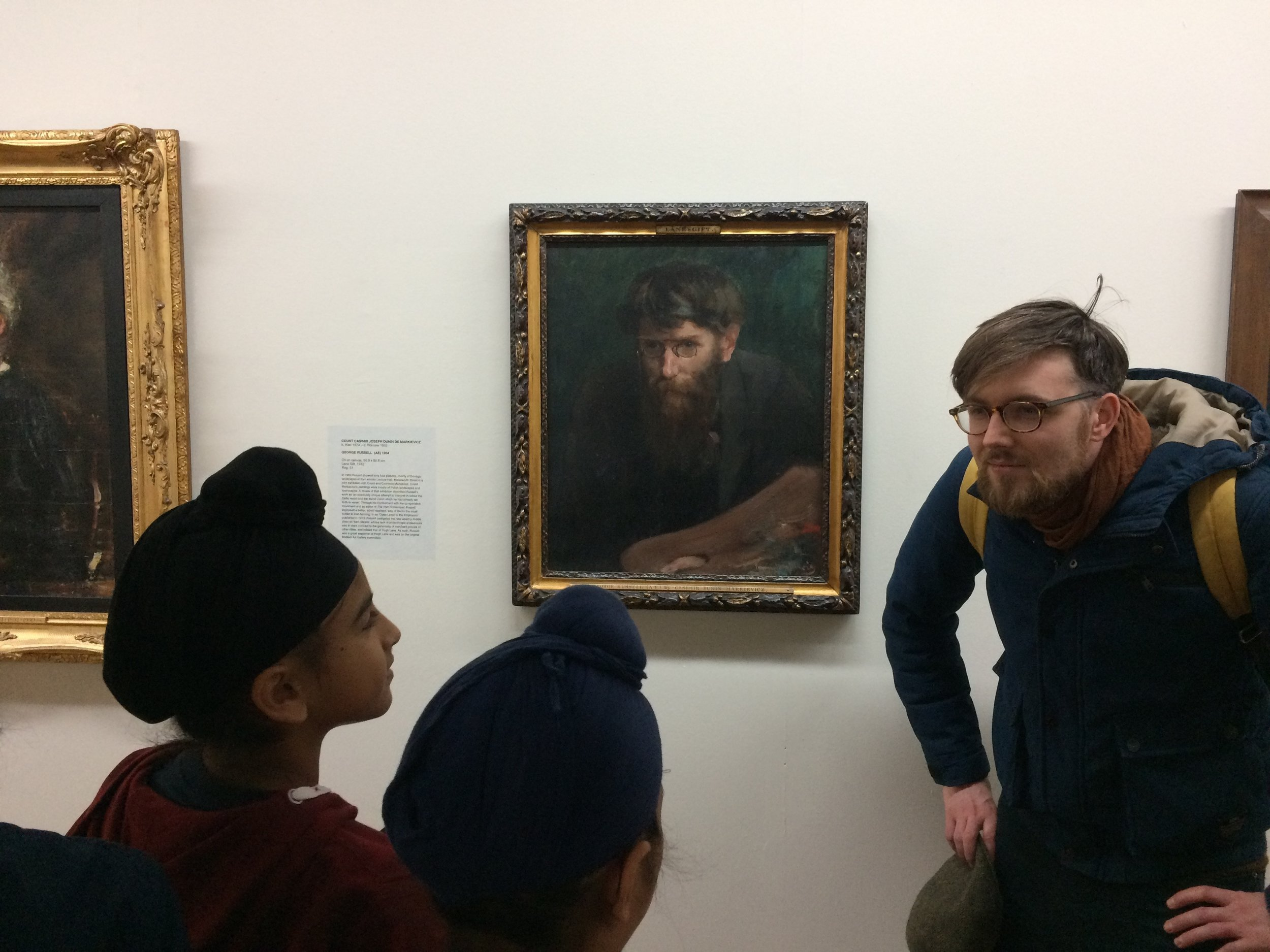 The children discovered a painting that looked just like James...
