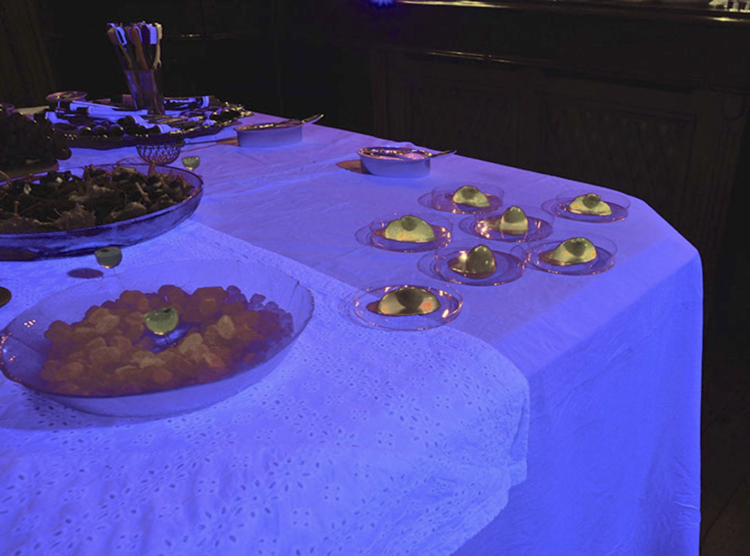 Glow in the dark jelly, image from presentation of work by The Domestic Godless