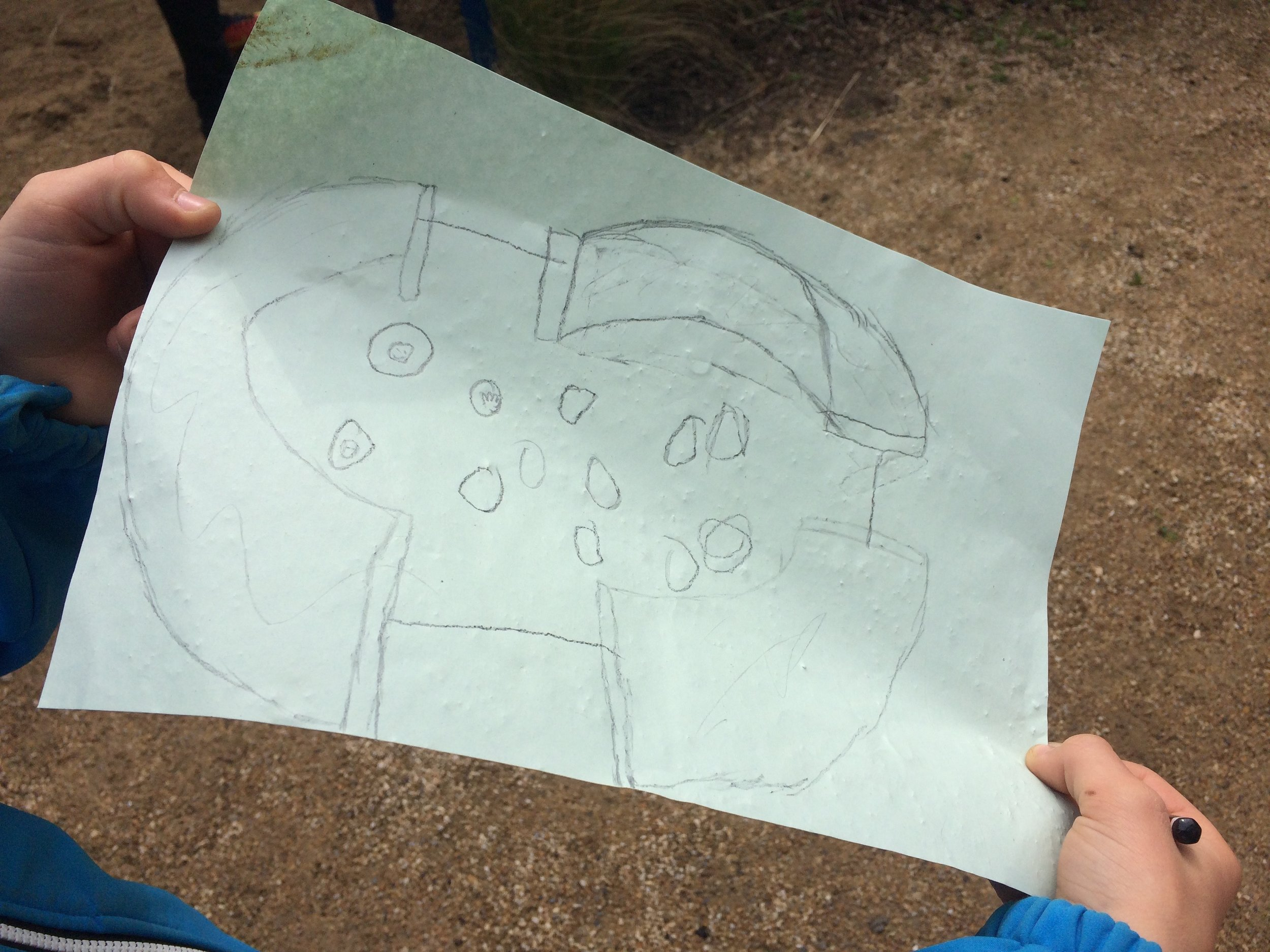 In the first workshop some children worked as 'architects' to design a mountain structure.