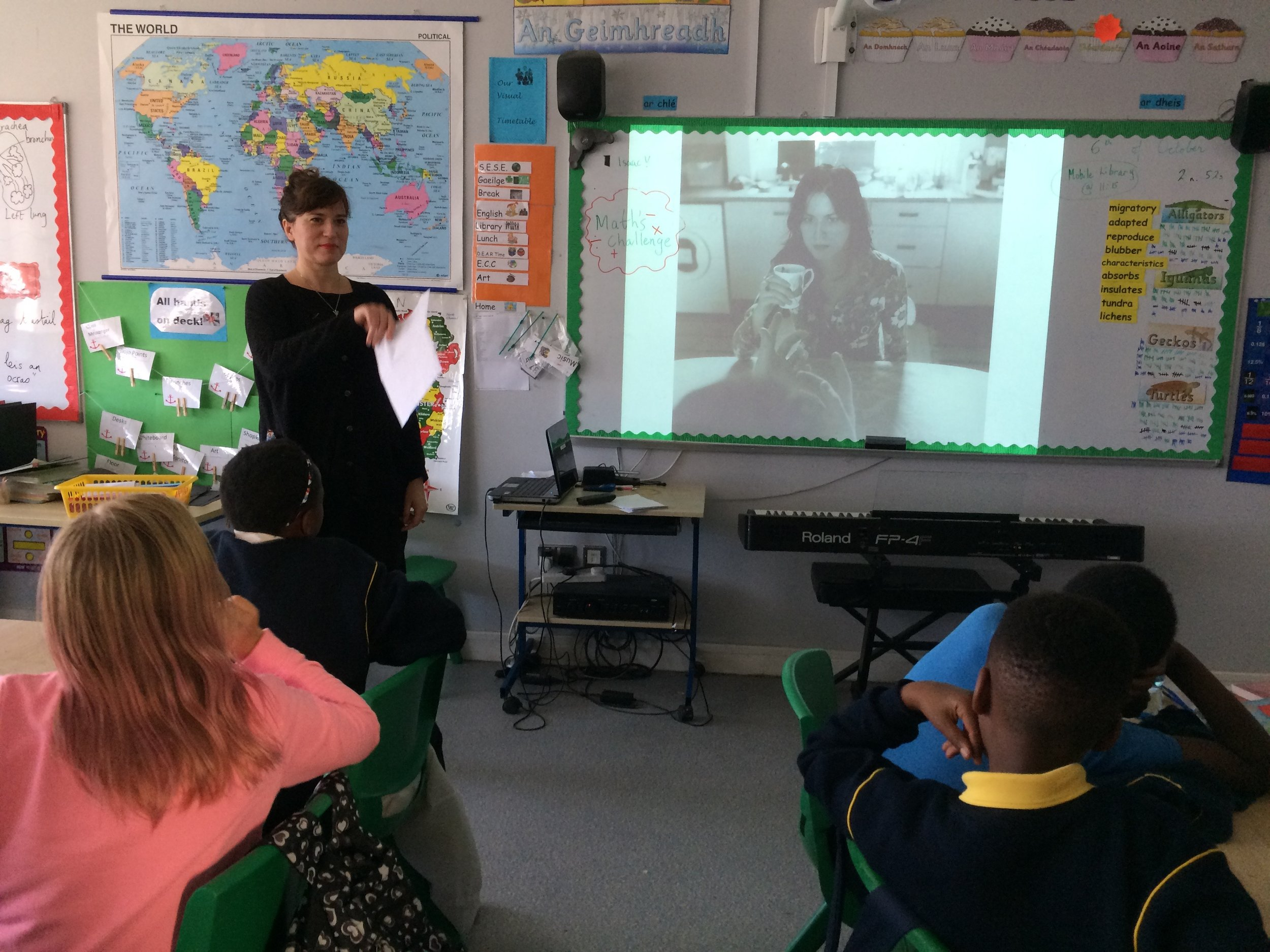 Dragana showed them an image of her work 'A portrait of a wife' and asked them some questions to prompt a reading of the image