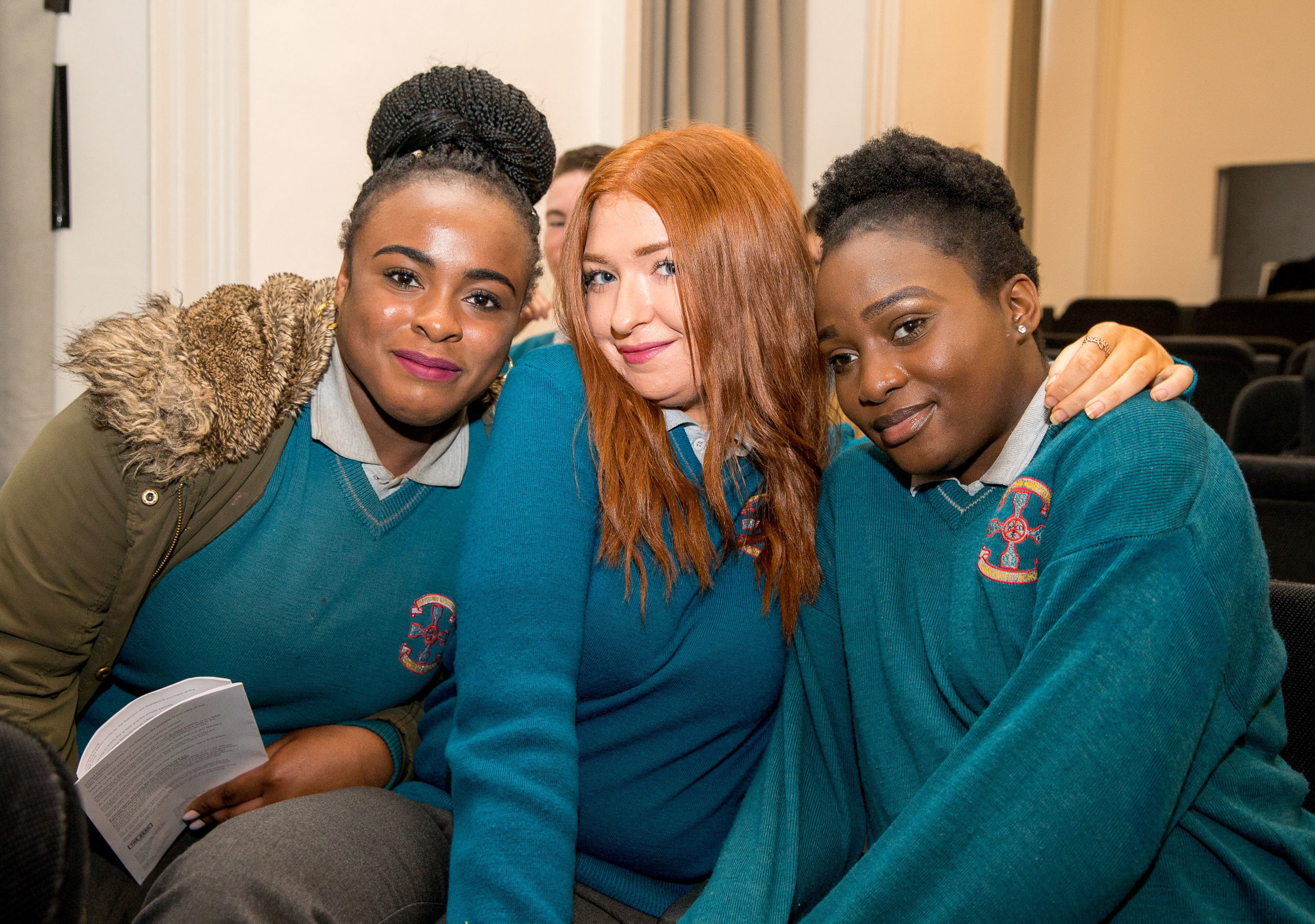 From left - Cledia, Patricia, Jevic - students from Hartstown Community School