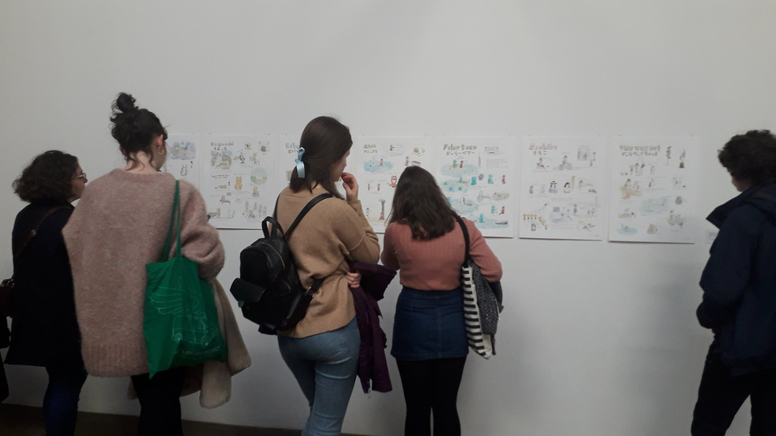 In Motherstankstation the group looked at the 'storyboard' drawings that artist Atsushi Kaga created in the development of his characters, day #1 field research #artisticprocess
