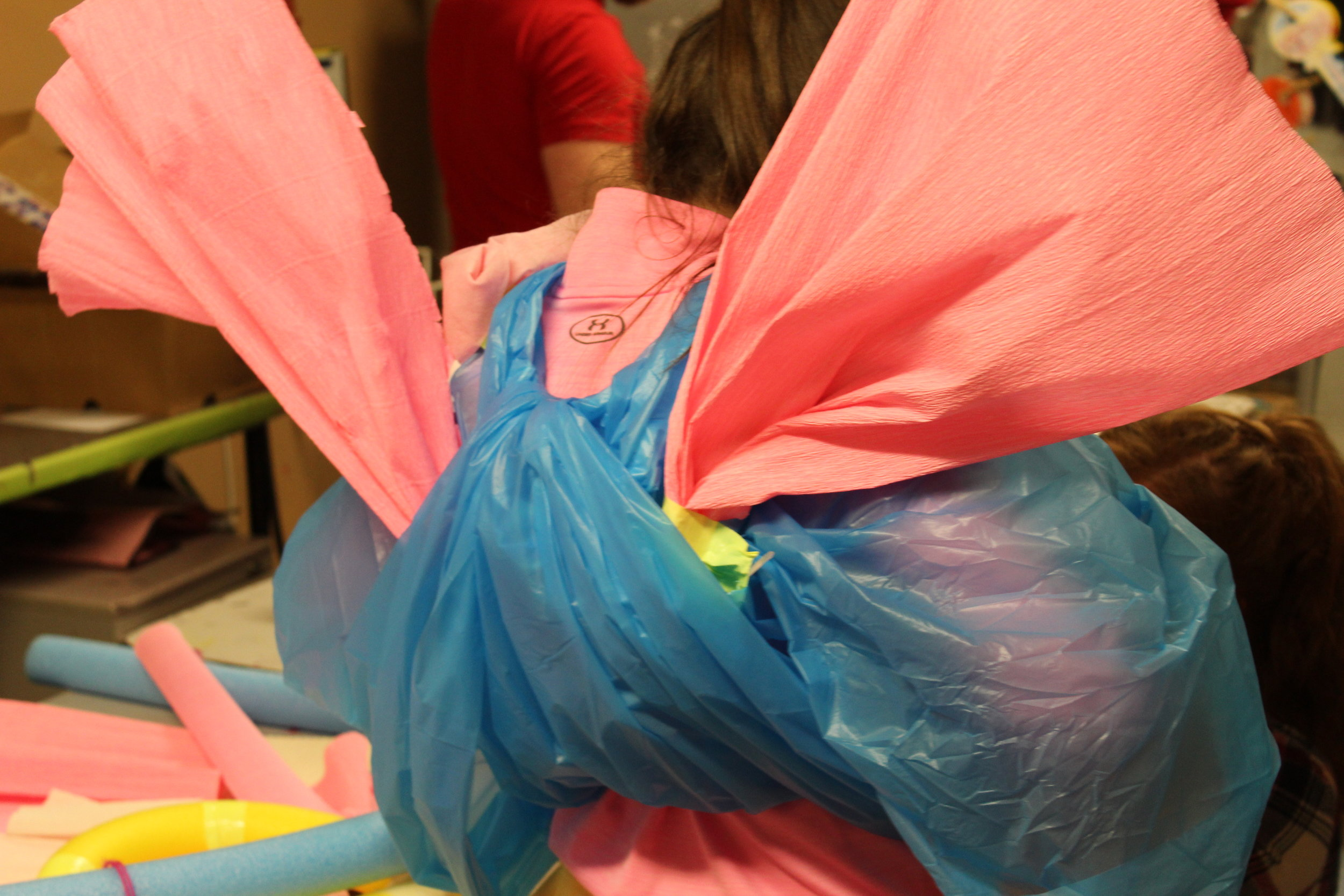 Wings were featured in some costumes - insect-like qualities emerged