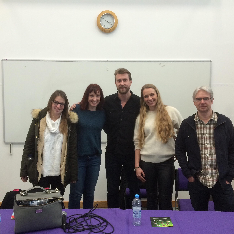 'The Dream Team', Anna (BASCA), me, Dan Moore (BASCA), Claire (MPA) and James Dean (Principal Lecturer & Study Lead).