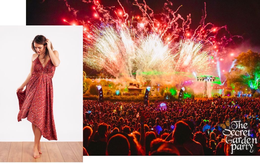 Photo via:  Secret Garden Party  Holly ( @hollymadge ) wearing the  Luna Evening Dress  photographed by Adj Brown ( @adj_brown )