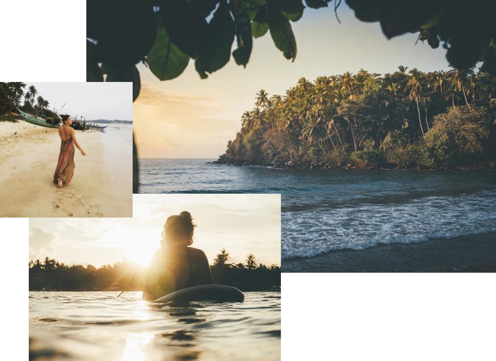 Traveller and Yogi  Charlotte Holmes  (top) in her Sailaway evening dress Photos via:  Matt Power