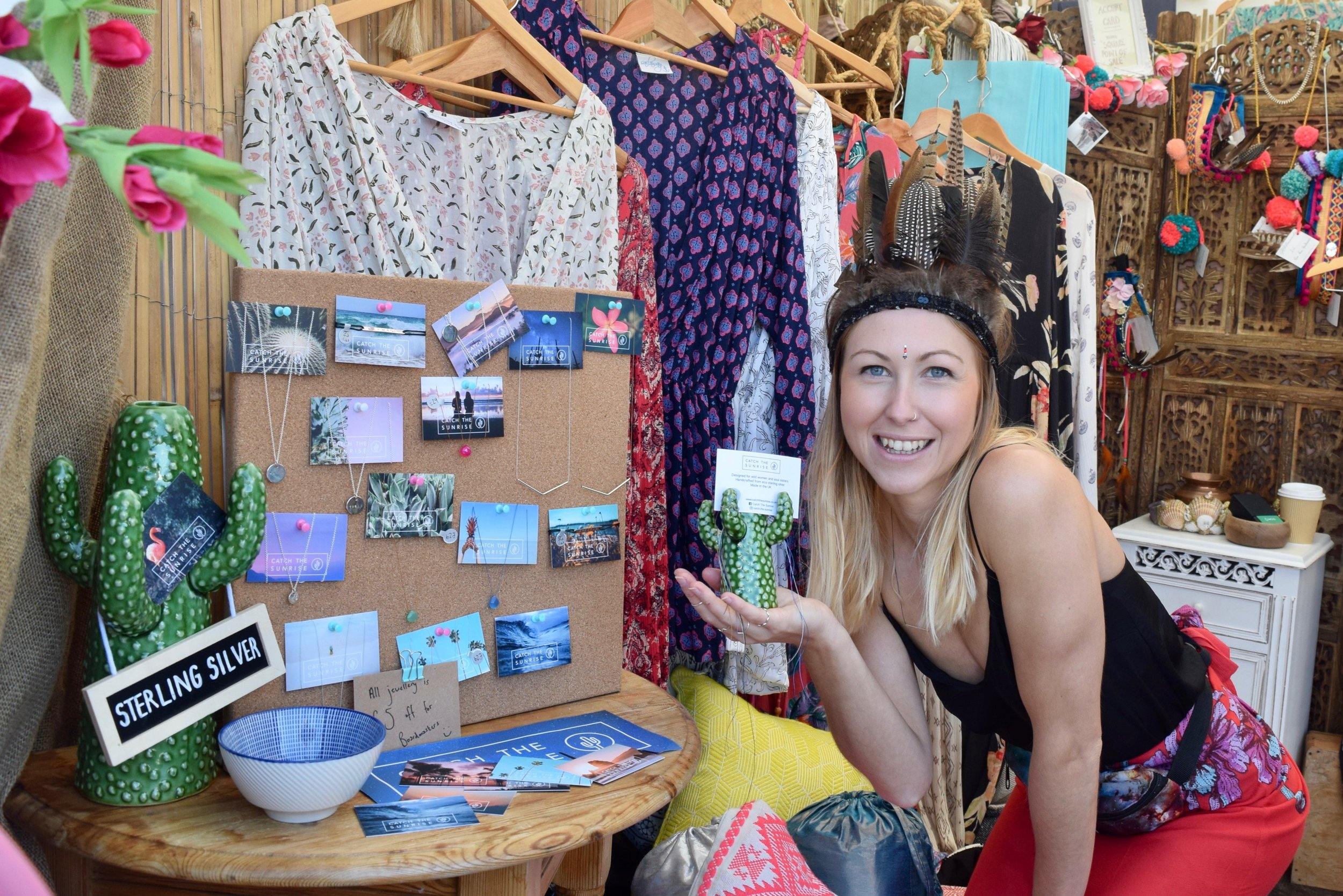 Sami with  Catch The Sunrise  goodies.
