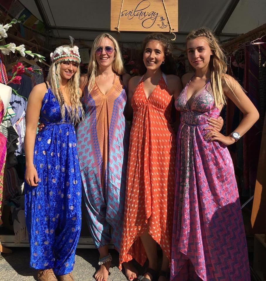 Lucie, Jolly Brown, Ellie & Enya in the  Arabian Nights dresses.