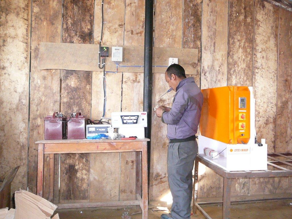 Final Checkup of SPOWTS system  before operation at Muna Devi School.jpg