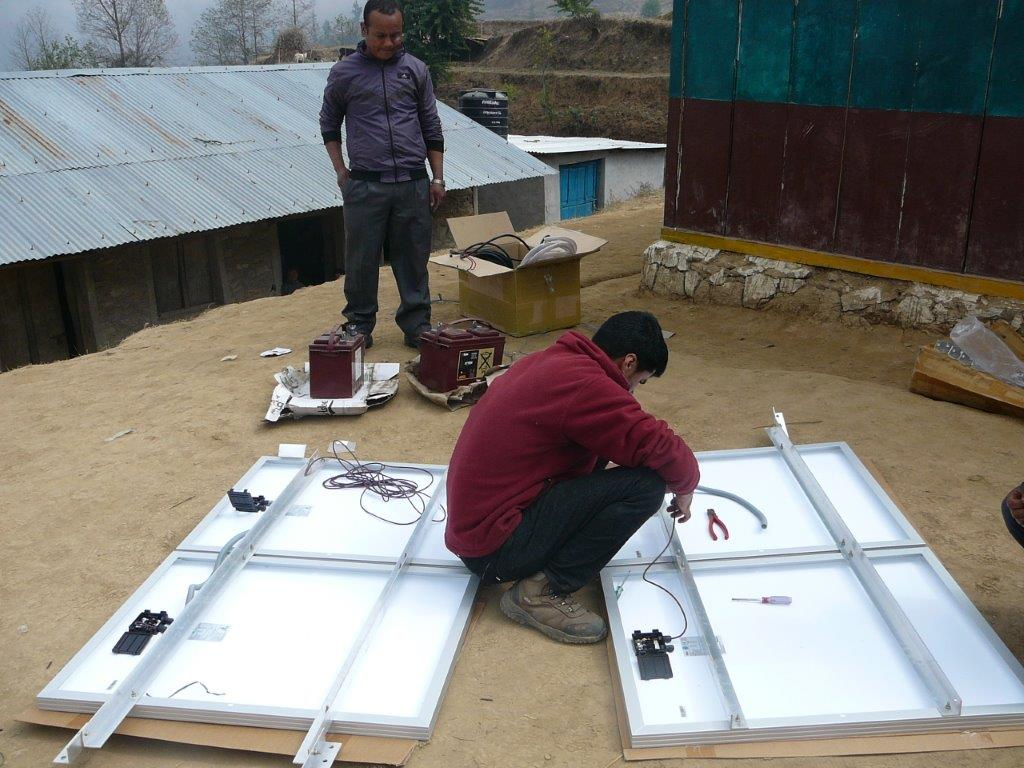 Preparing SPOWTS installation at  Muna Devi School of Pasavar Village.jpg