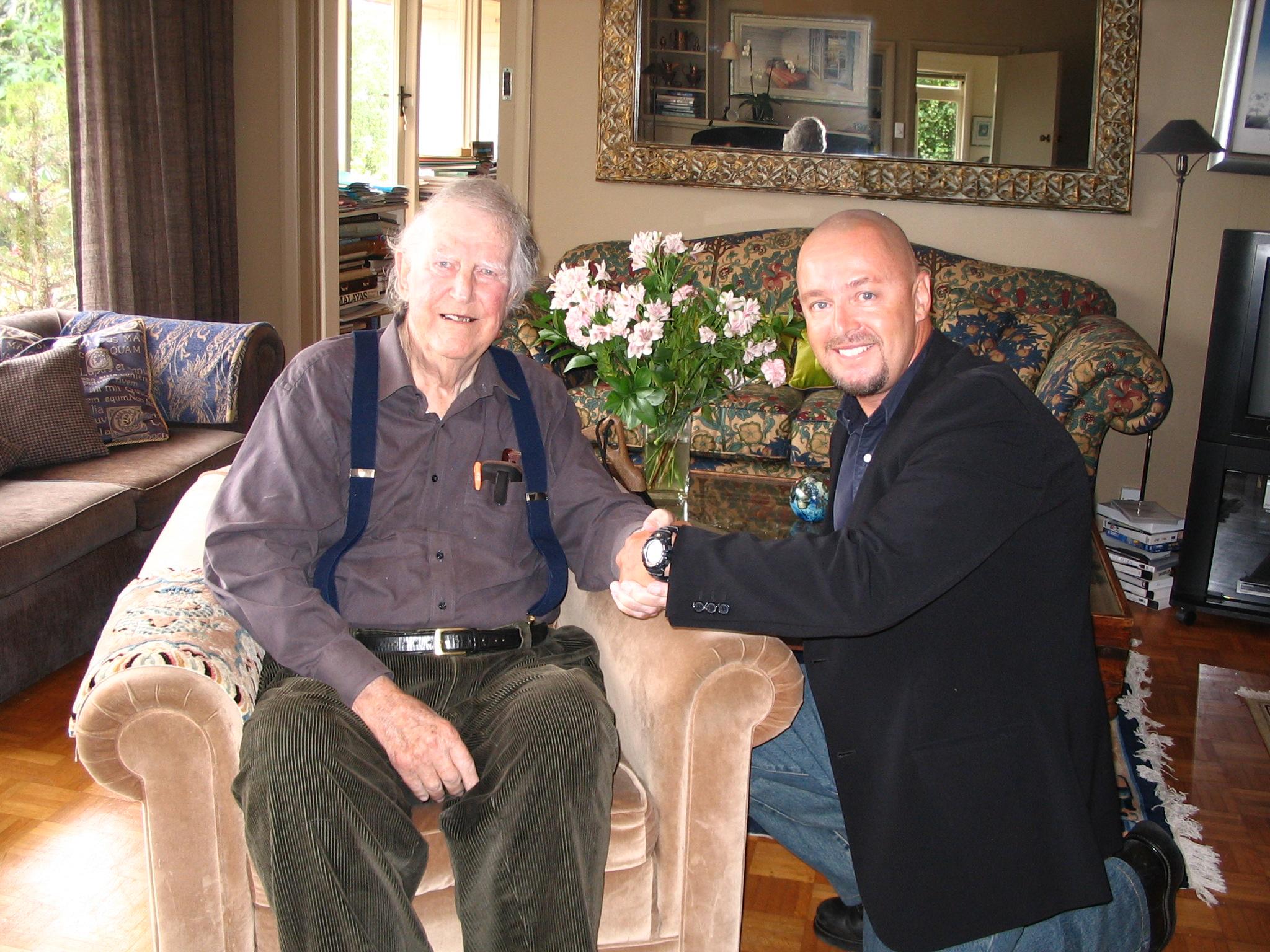 Paul Hockey with Sir Edmond Hillary