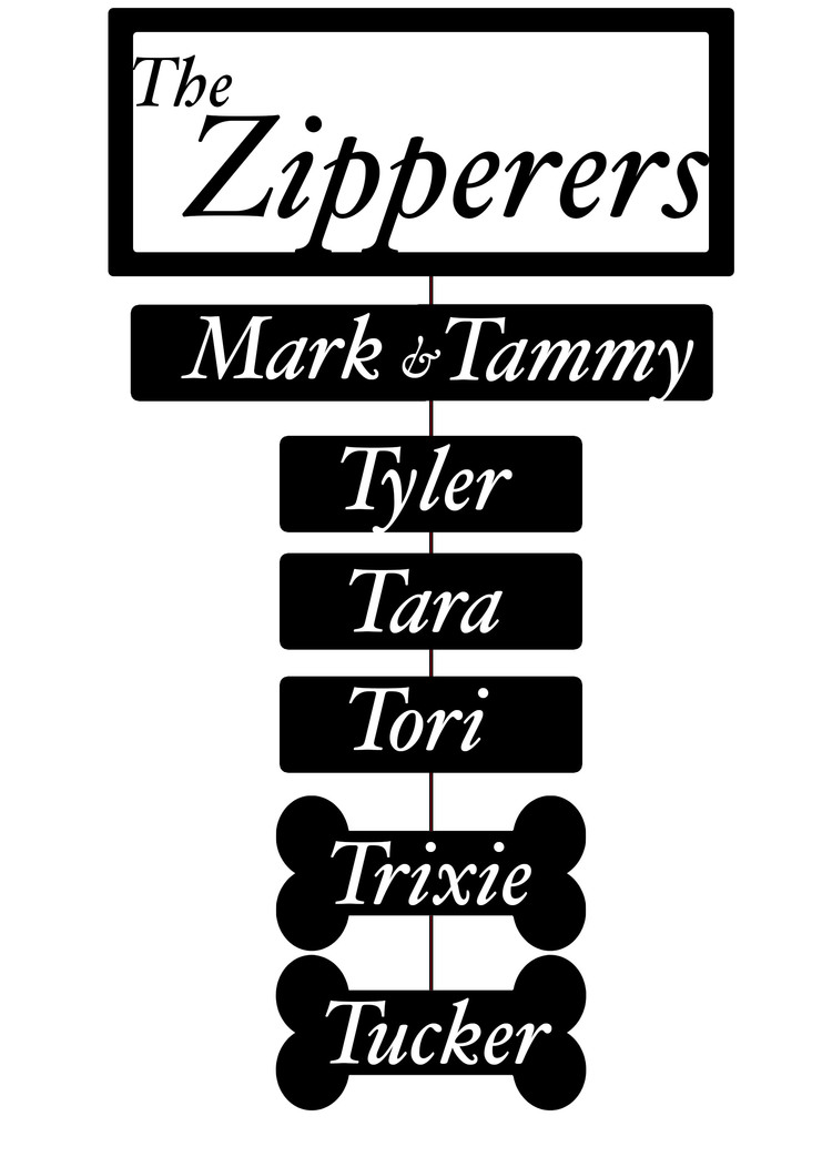 Tammy's mock up design for her family sign