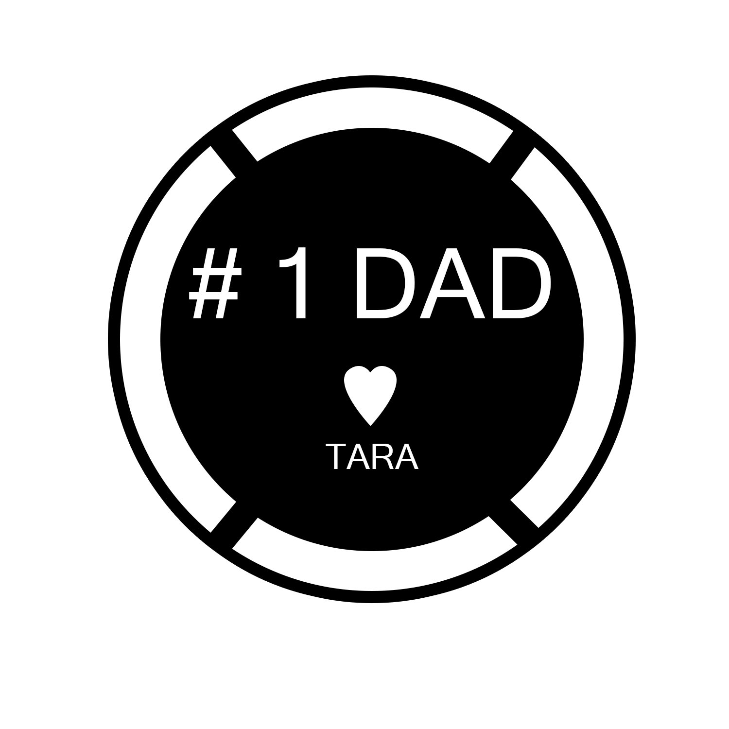 Tara's sign idea to give to her Dad.