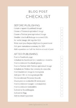 Free Blog Post Checklist