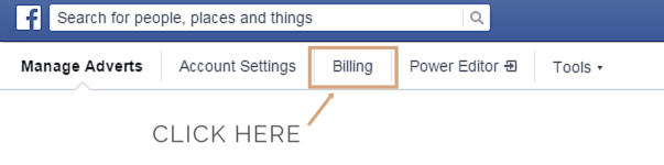Setting up facebook ad payments