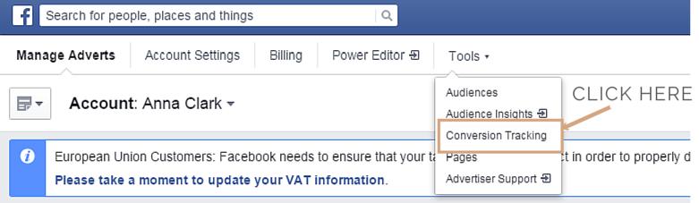 Conversion pixels for Facebook ads