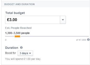 Budget for Facebook ads
