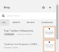 Go to your blog section of your website and press the + button