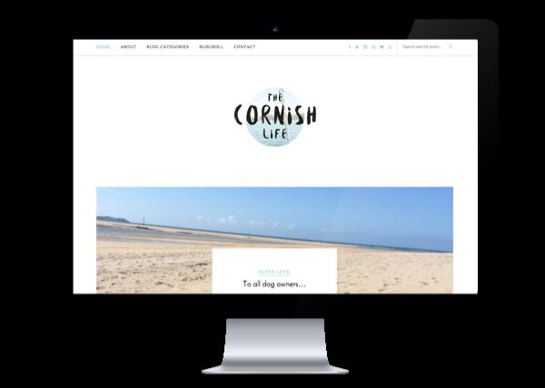 Blog design for The Cornish Life byRosanna