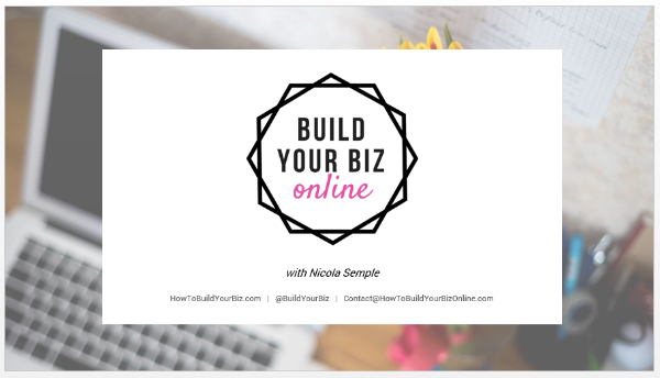 'How to build your business online' brand collateral