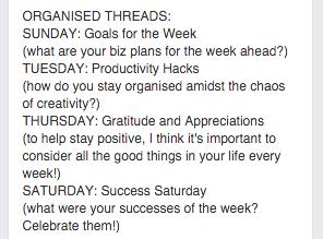 Facebook Groups Organised Threads