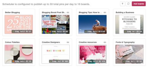 Boardbooster Pinterest tool