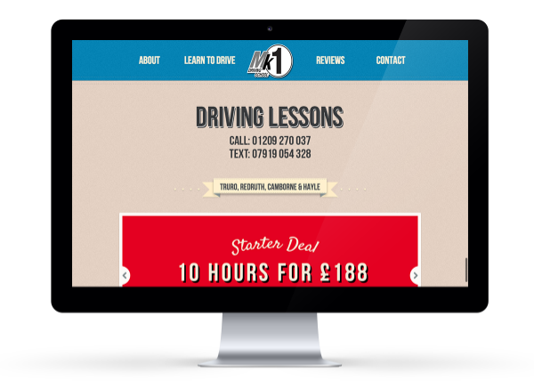 NEW MK1 Driving School Website , after