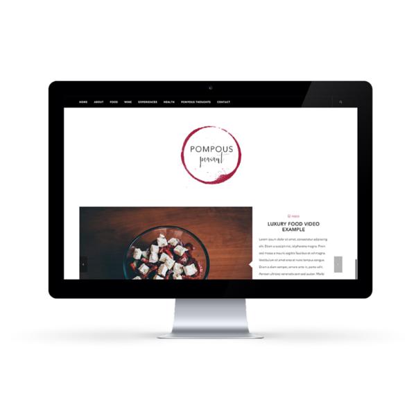 Pompous Peasant blog design