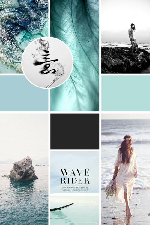 Inspiration Moodboard for Olivia Bossert brand design