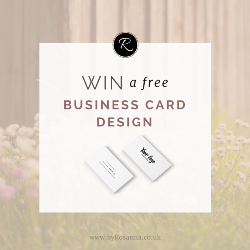 WIN a Free Business Card Design! (Instagram Giveaway)