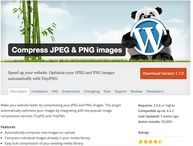 Compress images to speed up your website