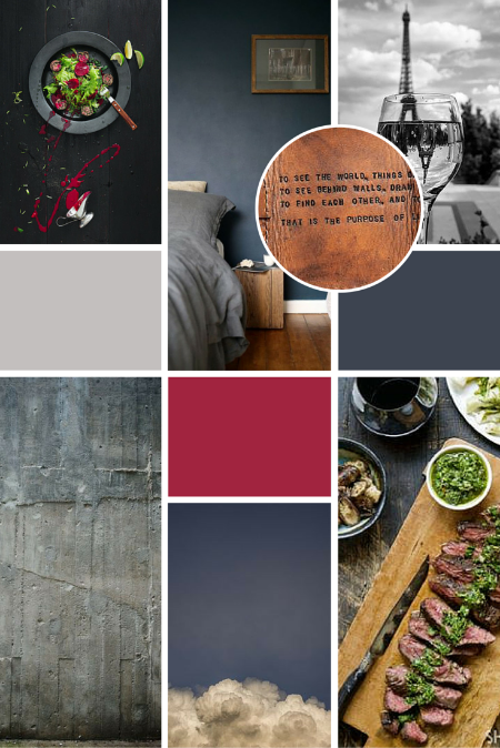 We knew the reader's of   Roman's luxury Food & Wine blog   would enjoy rich, classic tones and luxury leather elements.