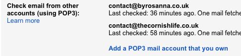 Add a POP email address to Gmail