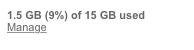 Gmail storage