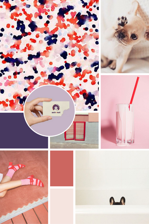 Inspiration Moodboard for AllTheFrenchies.com branding