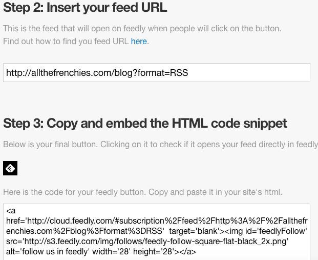 Feedly button URL