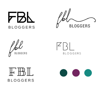 Initial logo options for FBL Bloggers