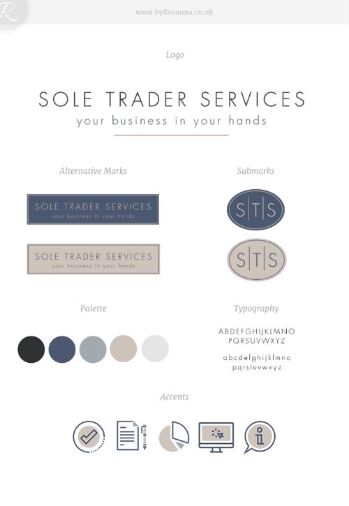 Sole Trader Services Brand Concept - byRosanna
