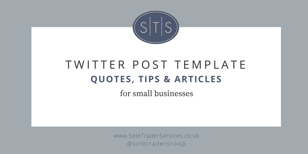 Twitter post template for Sole Trader Services