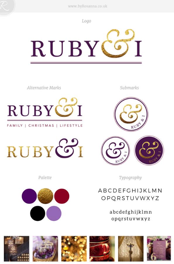 Ruby & I Brand Board | byRosanna