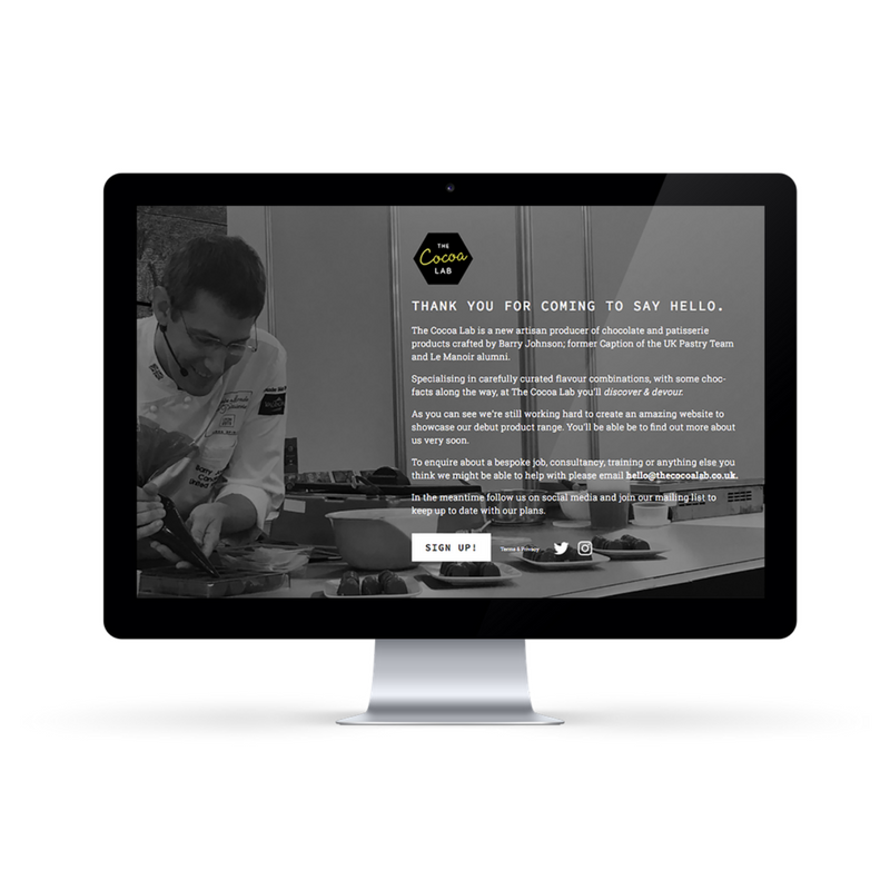 Landing Page Design for The Cocoa Lab
